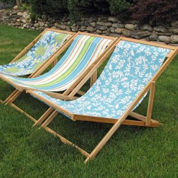 Összecsukható és állítható napozóágy - strand szék fából