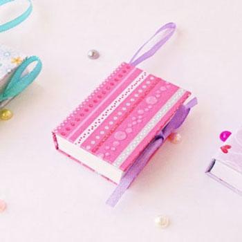 Mini könyvek házilag - miniatűr jegyzetfüzetek