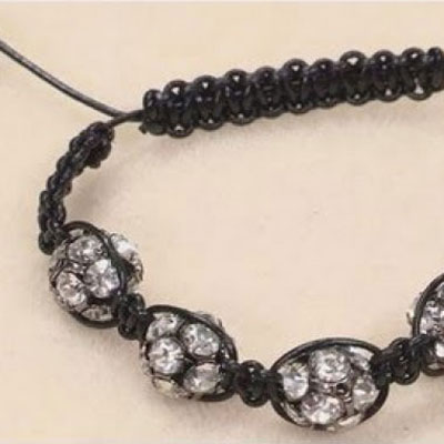 How to make a shamballa style bracelet - jewelry making