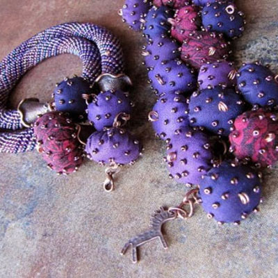 Textile beads from fabric scraps