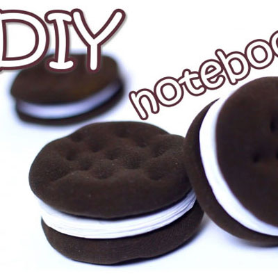 DIY oreo cookie notebooks