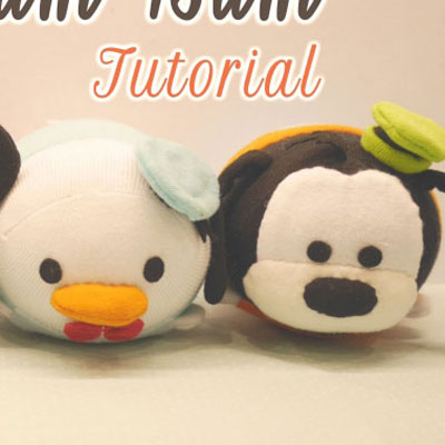 DIY Disney Tsum-tsum sock plushies (Pluto,Donald,Mickey,Goofy)