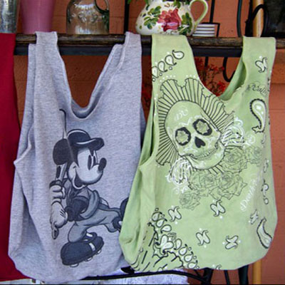 Repurposed T-shirt bag - free sewing pattern