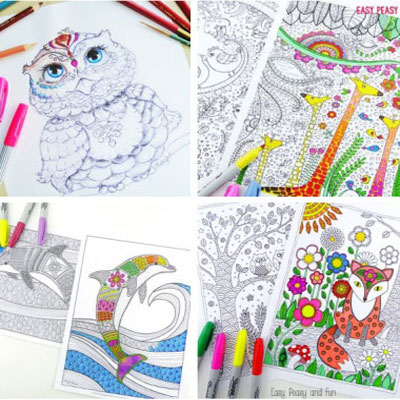 101 free adult coloring book pages