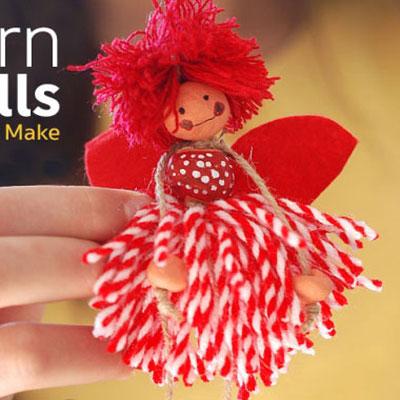 DIY pompom flower fairies