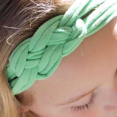 DIY Easy Celtic knot headband from an old T-shirt