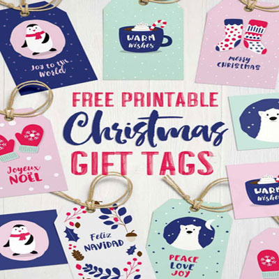 Cute Christmas gift tags ( free printable Christmas gift tags)