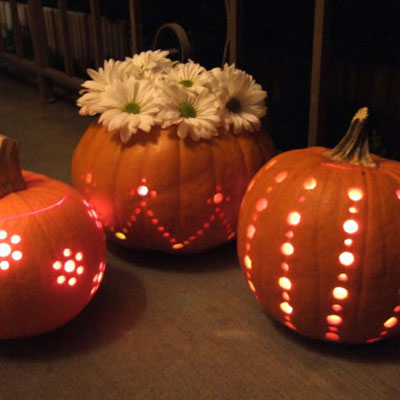 How to carve pumpkins easily with a drill - halloween decor