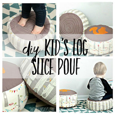 Log slice poufs (with sewing pattern)
