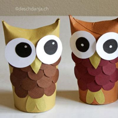 Adorable toilet paper tube owls