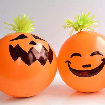 Fun candy filled Halloween pumpkin balloons