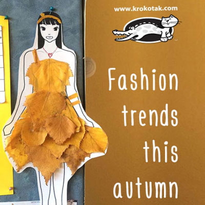 Autumn fashion dolls with leaves (  free printables )