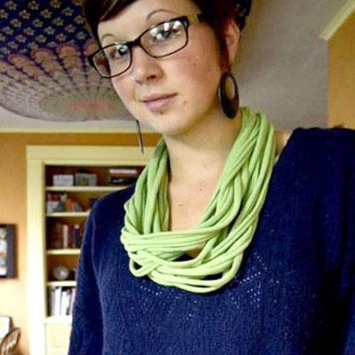 No sew T-shirt infinity scarf