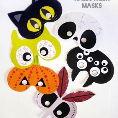 Free Halloween printable masks