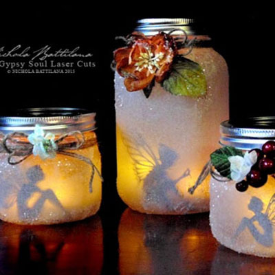 Magical fairy lanterns from mason jars