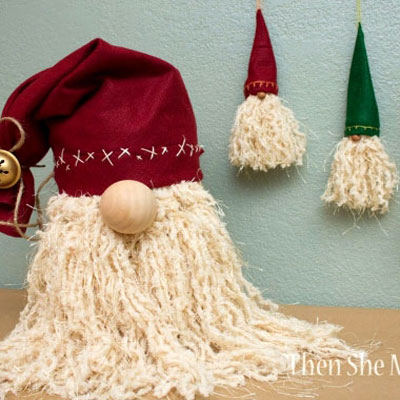 Whimsical Santa ornaments and decorations easily - winter gnomes