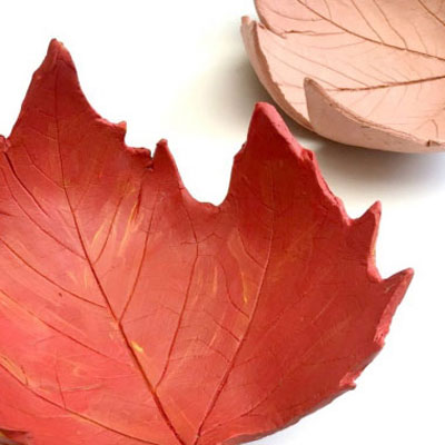 Leaf clay bowl - easy fall craft