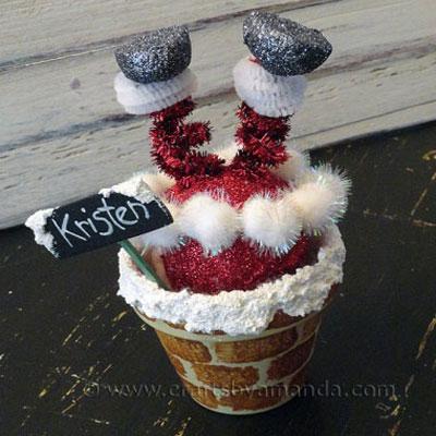 Santa chimney - funny and easy Christmas decor