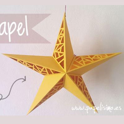 DIY Paper cut star - easy Christmas decor (free printable)
