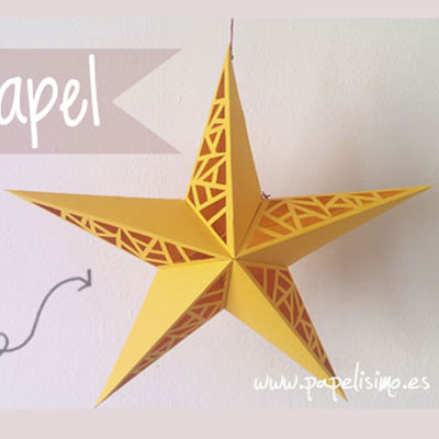 DIY Paper cut star - easy Christmas decor (free printable)