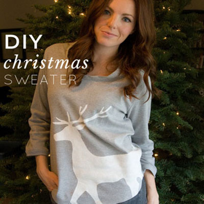 DIY Christmas sweater
