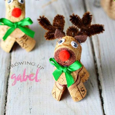Wine cork reindeer ( Rudolph )