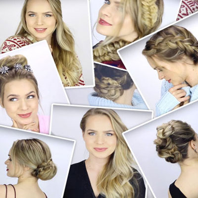 7 Easy elegant holiday hairstyle (for long hair)
