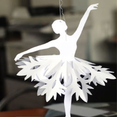 Easy paper snowflake ballerinas - winter kids craft idea