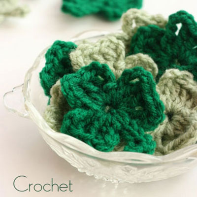How to crochet a shamrock - St. Patrick's day