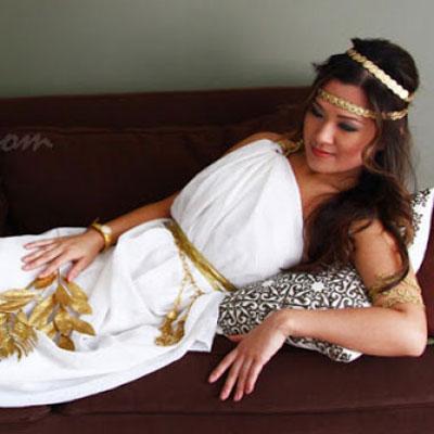 DIY Easy Greek goddess costume