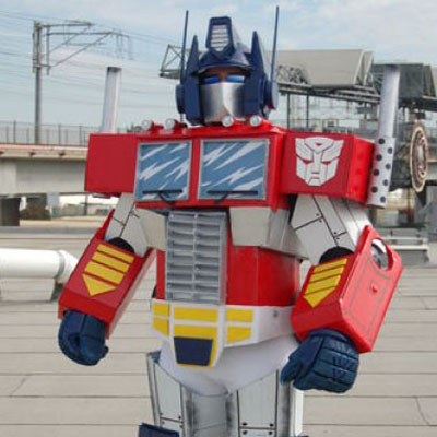 DIY Optimus Prime costume from cardboard (Transformers)