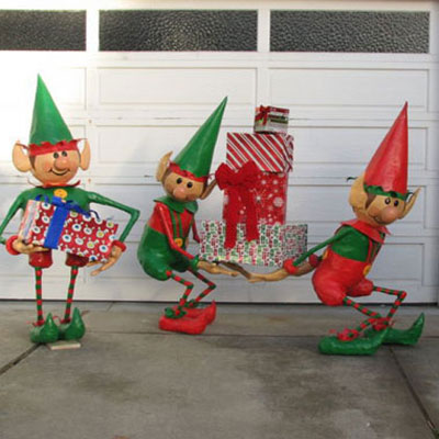 Santa's Elves Yard Display