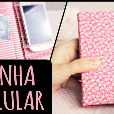 DIY fabric wrapped mobile phone case with extra pockets