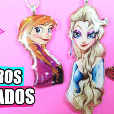 DIY personalised keychains from plastic food cotainers