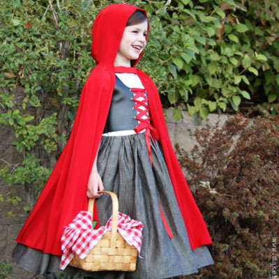 DIY Little red riding hood Halloween costume (with sewing pattern)