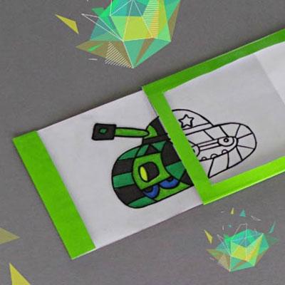 DIY easy magic gift card - self coloring magic card