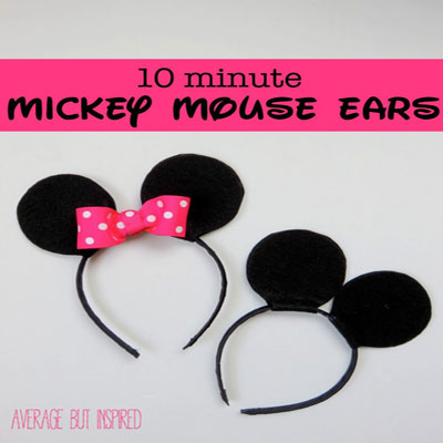 Quick MiIckey and Minnie mouse ears - costume for kids