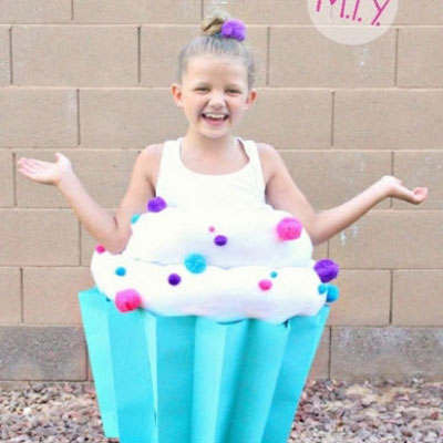 DIY Halloween cupcake costume for kids