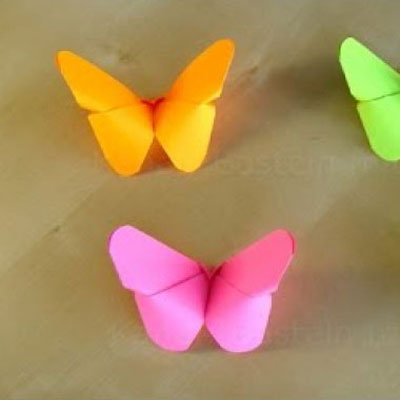 Easy origami butterflies - spring decor with paper folding