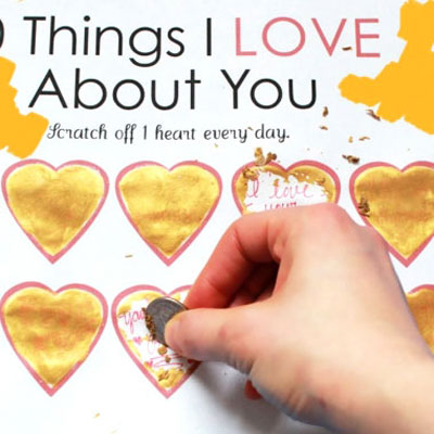 Scratch off Valentine's day card - fun and easy gift idea