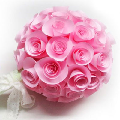 Easy paper rosette wedding bouquet or topiary (spring decor)