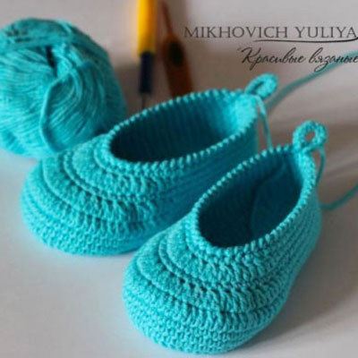 Crocheted baby boots (free crochet pattern)