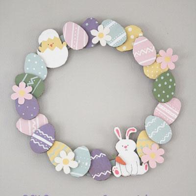 Easy DIY paper Easter egg wreath - Easter decoration