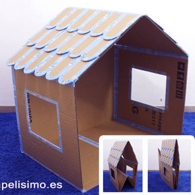 DIY Folding cardboard box doll house - upcycling craft