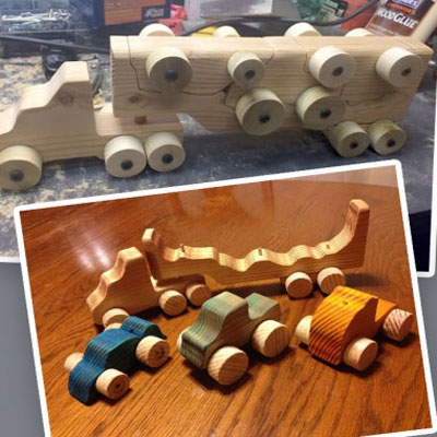 Wooden toy hauler - woodworking  project with free plan