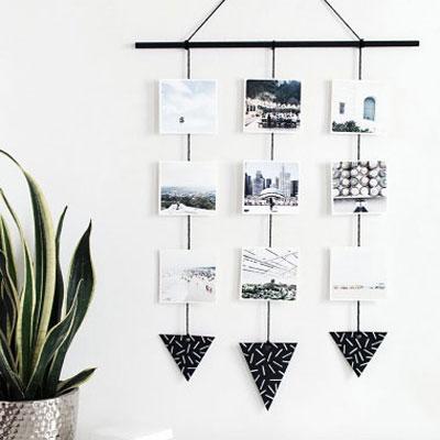DIY Modern photo wall hanging - creative home decor
