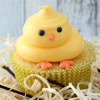 DIY Adorable Easter chick cupcakes