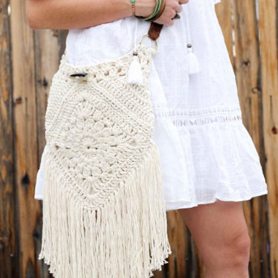 Urban gipsy boho bag ( free crochet pattern)