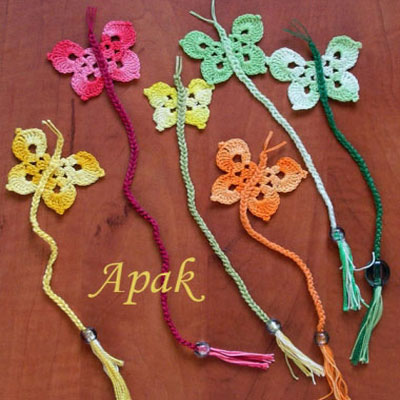 DIY Spring crochet butterfly bookmark - free crochet pattern