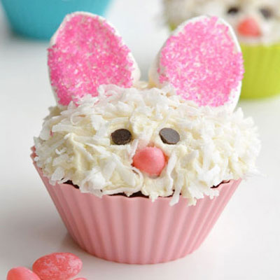 How to decorate Easter bunny cupcakes (muffins)